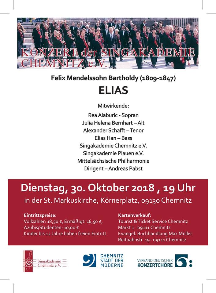 30.10.2018 in der St. Markuskirche Chemnitz