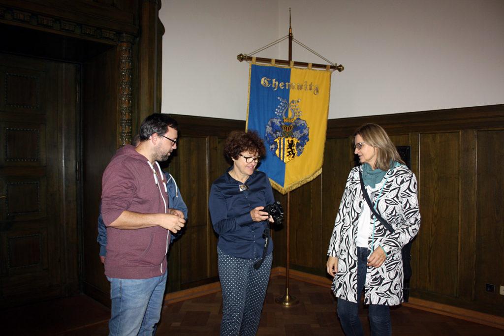 Unser Besuch aus Lodz im Chemnitzer Rathaus.