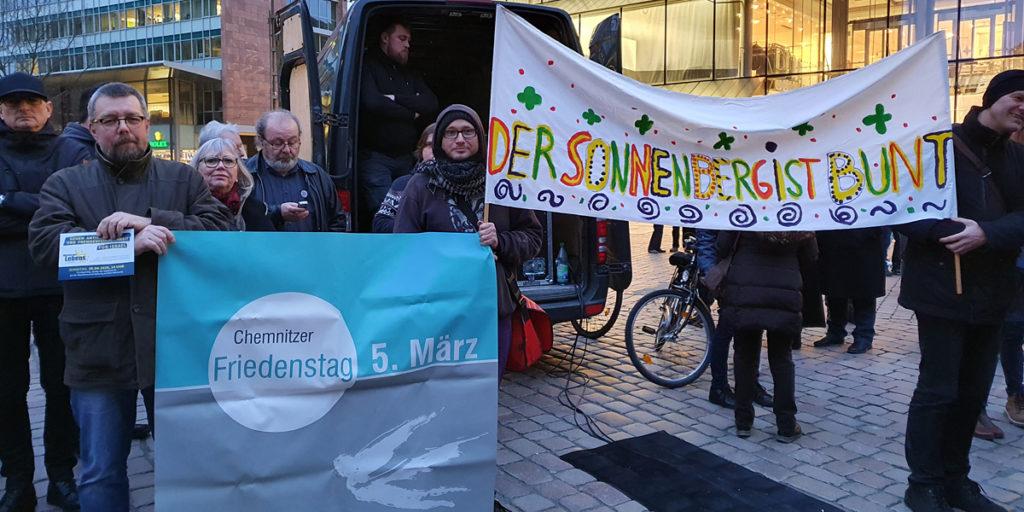 Die Chemnitzer Friedenswege führen zum Neumarkt von Chemnitz